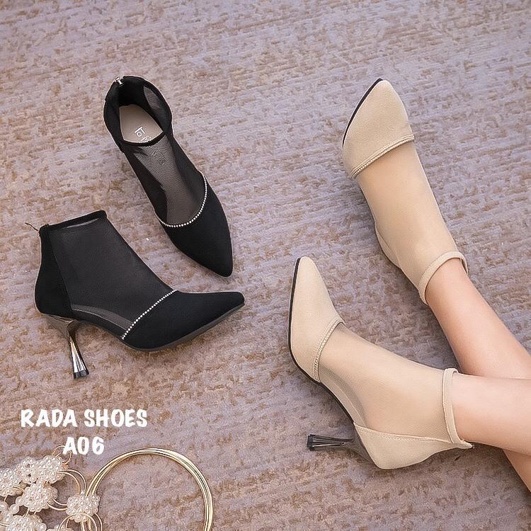 รองเท้าบูทแต่งซีทรู เหมาะกับออกงาน หรือจะใส่เที่ยว ก็เหมาะสุดๆ สูง 8 cm ใส่ง่ายด้วยซิปหลัง ชอบสั่งเลย มีไม่เยอะจ้า